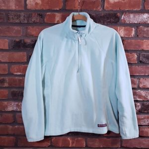 Vineyard Vines Aqua 1/4 Zip Fleece Pullover